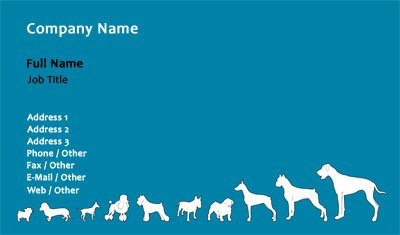 Dogs of All Sizes Business Card Template